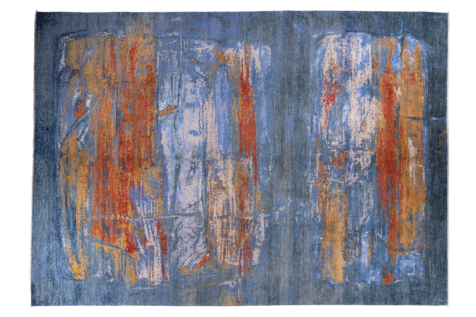 Modern Abstract Art Hand Knotted Rugs